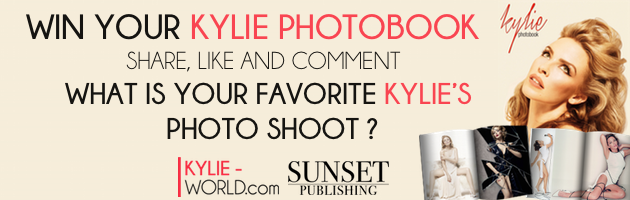 Win your Kylie's photo book - Kylie World Kylie Minogue Kiss Me Once Photoshoot