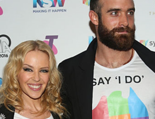Kylie Minogue & Joshua Sasse at the ARIAs 30th