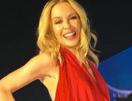 Kylie Minogue performing at the Glock Horse