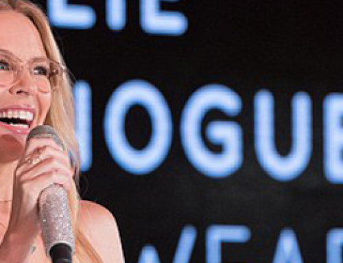 Kylie Minogue launches her Specsaver's eyewear range in Australia