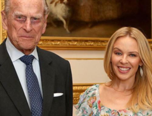 Kylie Minogue receives Britain-Australia Award from Prince Philip